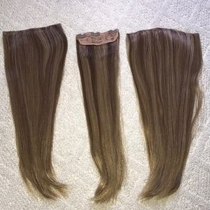 300g synthetic clip in hair extensions!!